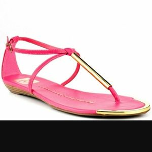 Dolce Vita Archer Sandals Hot Pink Leather